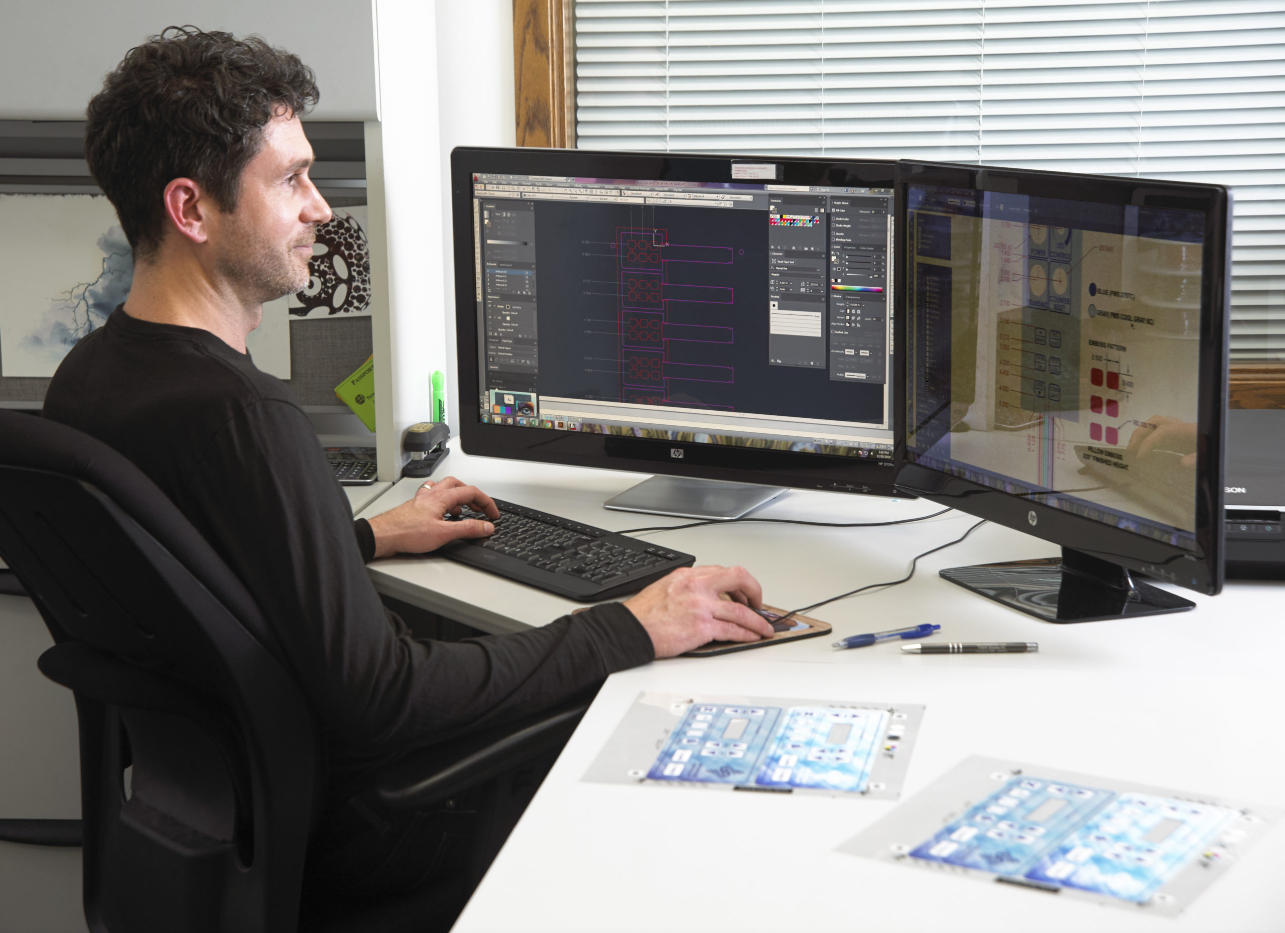 CAD Engineer at a workstation