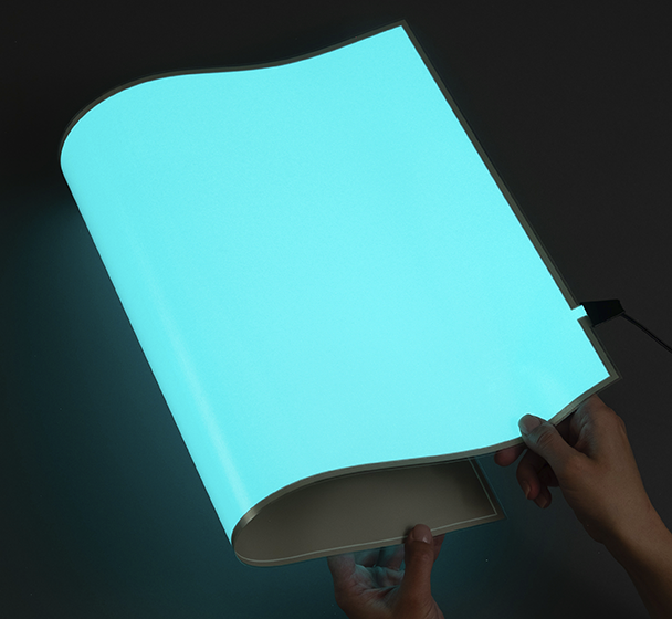 14 x 22 Inch Blue-Green Rectangle EL Light Panel