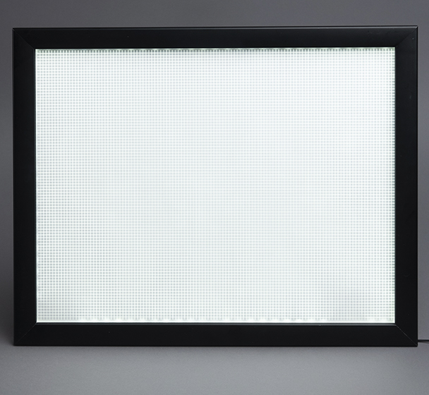 LED Light Panel in a frame without a backlit graphic